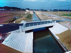 須賀津橋架設工事