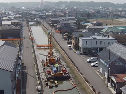 北賑橋下流液状化側方流動対策工事