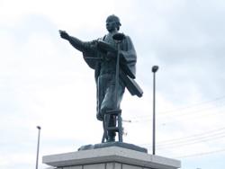 伊能忠敬翁銅像設置工事